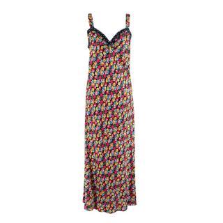 RIXO Juliet floral-print satin dress