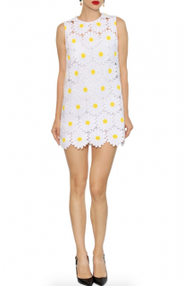 Dolce & Gabbana Daisy Cotton Blend Macram� Dress