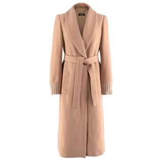 Twin-Set by Simona Barbieri Beige Knit Belted Coat