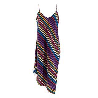 Etro Multicolour Diagonal Striped Cami Dress