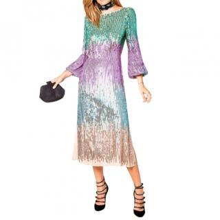 Rixo London Coco Multi sequin dress