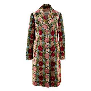 Etro Carpet Floral Embroidered Coat