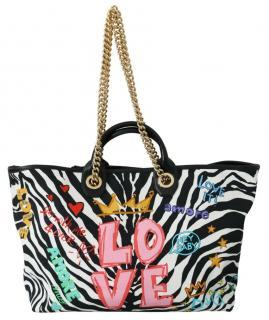 Dolce & Gabbana Zebra Print Amore Capri Tote