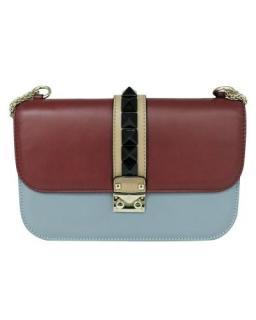 Valentino Tri-Colour Medium Glamlock Shoulder bag