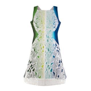 Peter Pilotto Ombre Tie Dye Effect Lace Panel Dress
