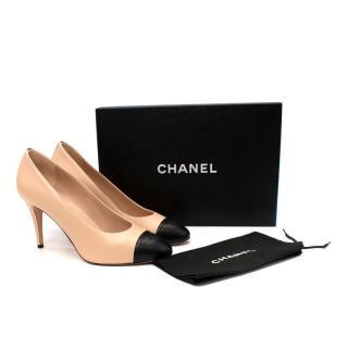 Chanel Bi-Colour CC Cap Toe 100mm Pumps