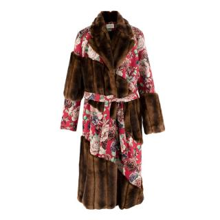 Giuseppe Di Morabito Faux Fur Floral Coat