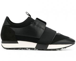 Balenciaga Black Classic Race Runner Sneakers