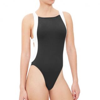 Alexandra Miro Black & White Open Back Courtney Swimsuit