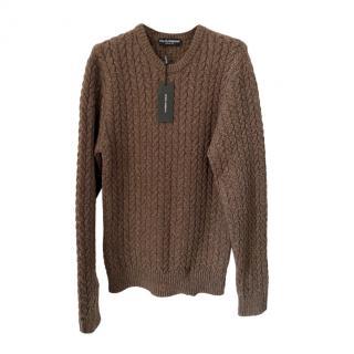 Dolce & Gabbana Men's Cable Knit Jumper