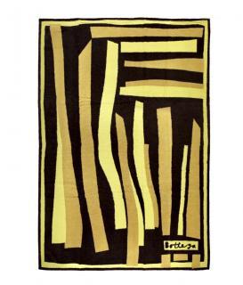 Bottega Veneta Brown & Yellow Striped Beach Towel