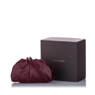 Bottega Veneta Burgundy  leather The Mini Pouch