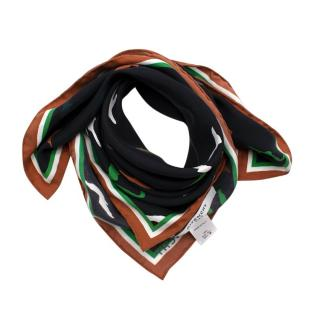 Givenchy Silk Animal Print Patterned Scarf