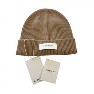 Givenchy Brown Ribbed Cashmere & Wool Beanie