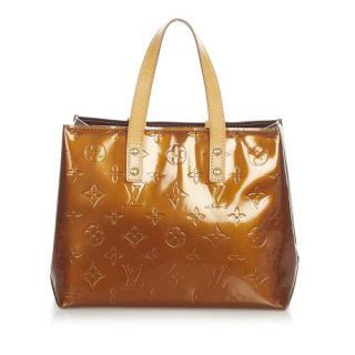 Louis Vuitton Caramel Vernis Reade PM Tote