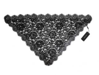 Dolce & Gabbana Black Lace Headscarf