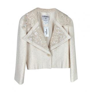 Chanel Vintage Embellished Fantasy Tweed Cropped Jacket
