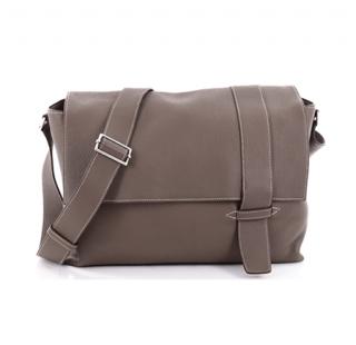 Hermes Clemence Leather Etoupe Alfred Shoulder Bag