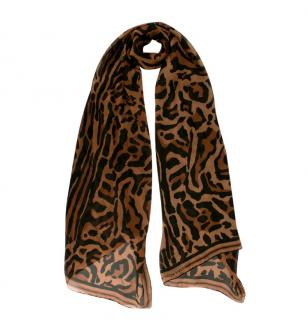Givenchy Leopard Print Silk Chiffon Scarf