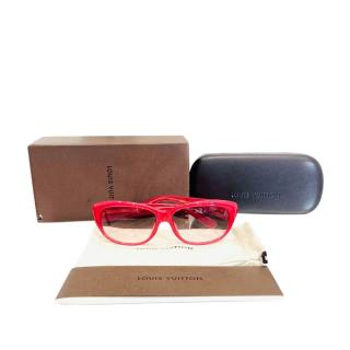 Louis Vuitton Red Embellished Sunglasses
