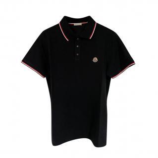 Moncler navy short sleeved polo shirt