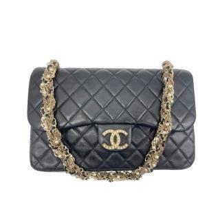 Chanel Embellished Black Lambskin Westminster Pearl Flap Bag