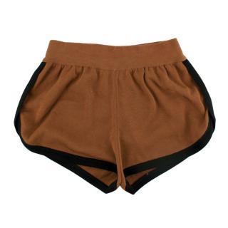 Fendi Brown Cotton Running Shorts