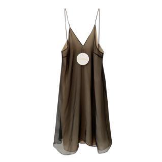 Chloe Black/Nude Silk Slip Dress