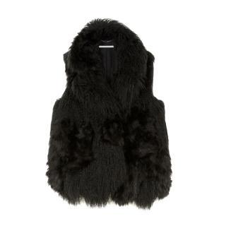 Stella McCartney Aurora Fur Free Fur Sleeveless Jacket