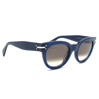 Celine Blue Round Acetate Sunglasses