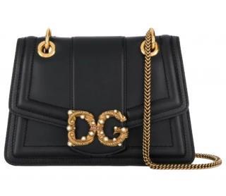 Dolce & Gabbana Black DG Amore Shoulder Bag