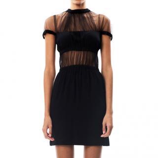 Christopher Kane Silk & Tulle Mini Dress