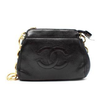 Chanel Vintage Caviar Leather Small Chain CC SHoulder Bag