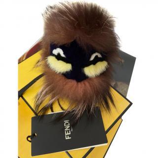 Fendi Brown Bag Bugs Fur Charm
