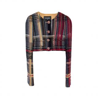Chanel Paris/Dubai Multicoloured Lesage Tweed Cropped Jacket