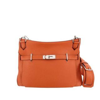 Hermes Taurillon Clemence Leather Orange Jypsiere 34