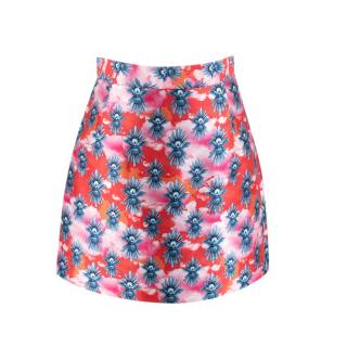 House Of Holland A-Line Printed Mini Skirt