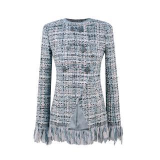 Chanel Cosmopolite Fantasy Tweed Pastel Fringed Jacket