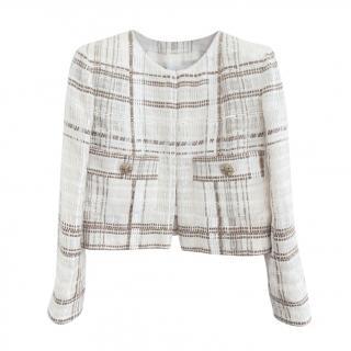 Chanel Ecru & Golden Beige Paris/Dubai Lesage Tweed Jacket