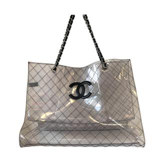 Chanel Naked PVC Quilted CC Shopper