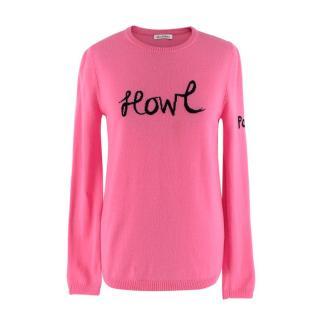 Bella Freud Pink Howl Wool Jumper