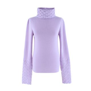 Temperley London Lavender Honeycomb Knit Jumper