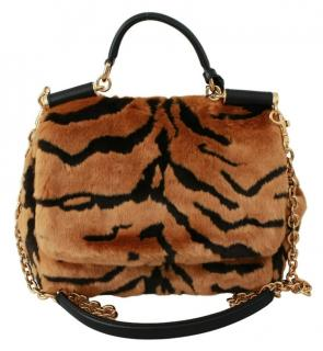 Dolce & Gabbana Faux Fur Tiger Sicily Bag