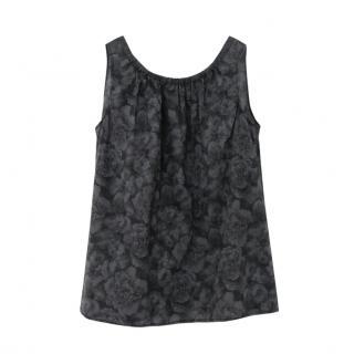 Dosa soft grey floral cotton top