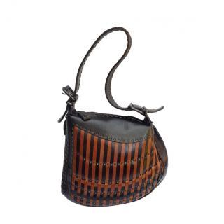 Fendi vintage leather shoulder bag