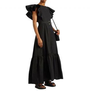 Eudon Choi Julia Black Cotton-Twill Maxi Dress