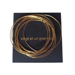 Vingt Et Un Grammes Gold Plated Stacking Bracelets