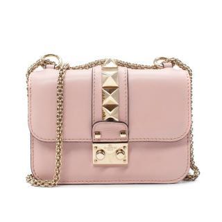 Valentino Garavani Pale Pink Glam Lock Shoulder Bag