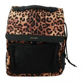 Dolce & Gabbana Leopard Print Nylon Backpack