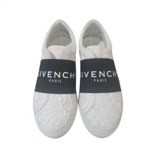 Givenchy White Floral Lace Sneakers